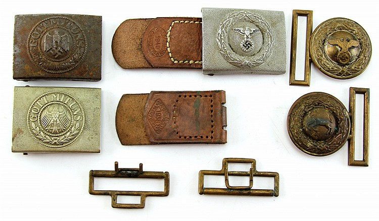 WWII GERMAN BELT BUCKLE LOT
