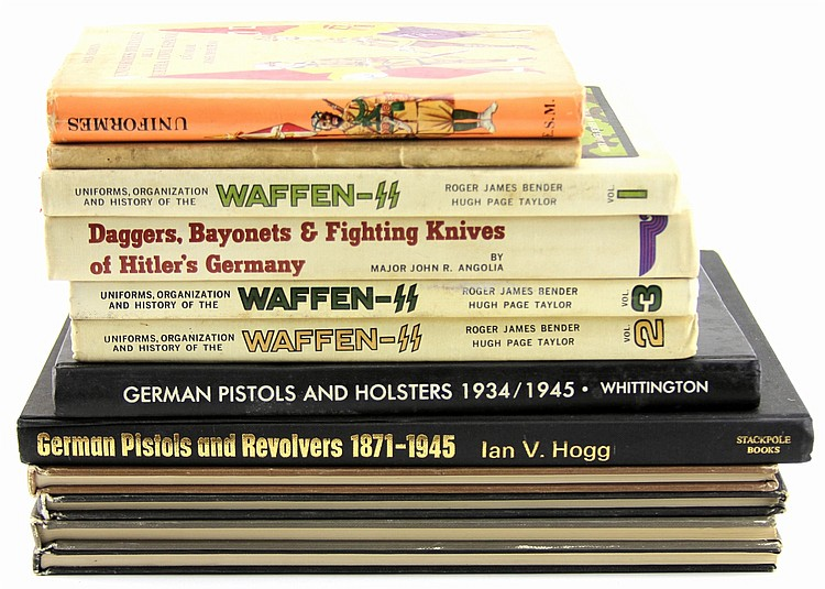 12 BOOKS ON WWII GERMAN MILITARIA