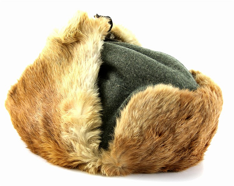WWII GERMAN M42 FUR CAP 1943