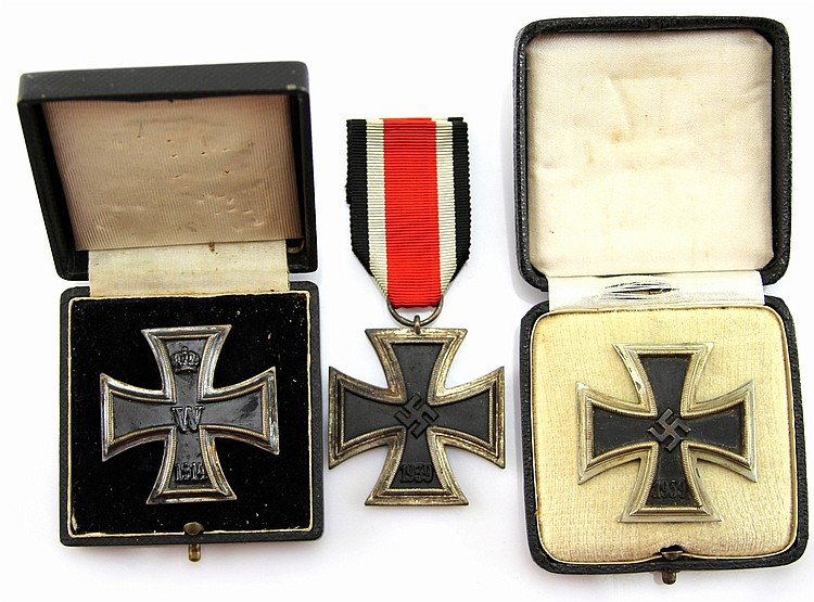 WWII GERMAN IRON CROSS LOT OF 3