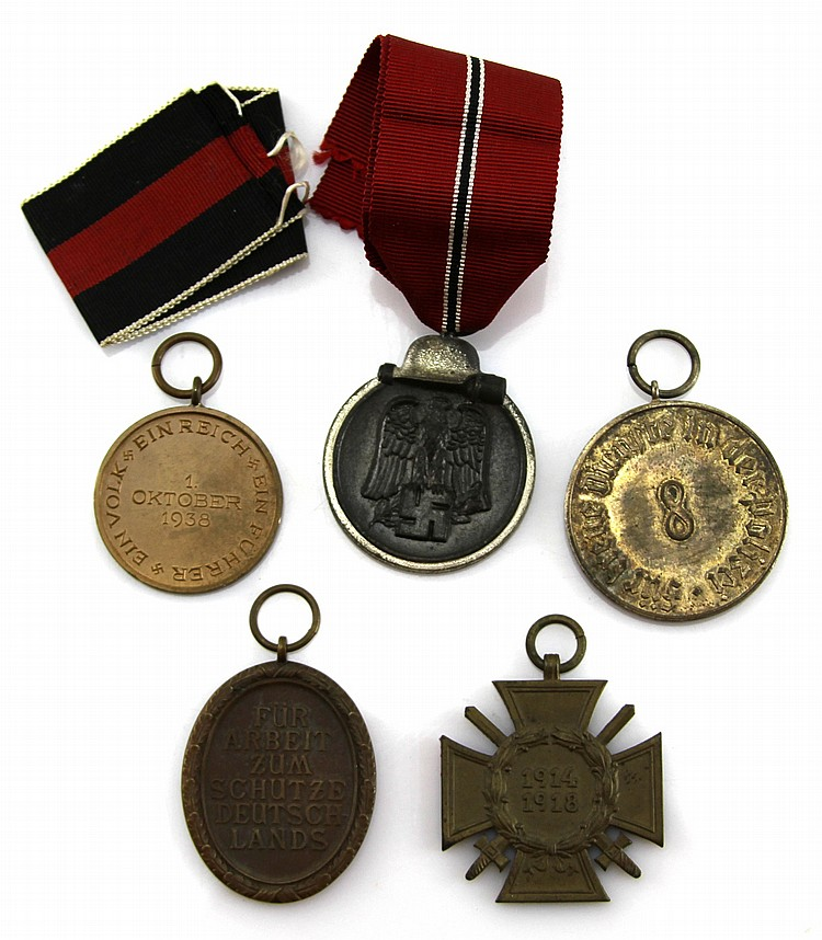 WWII GERMAN MEDAL LOT OF 5