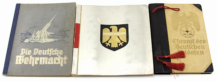 WWII GERMAN ALBUM LOT OF THREE