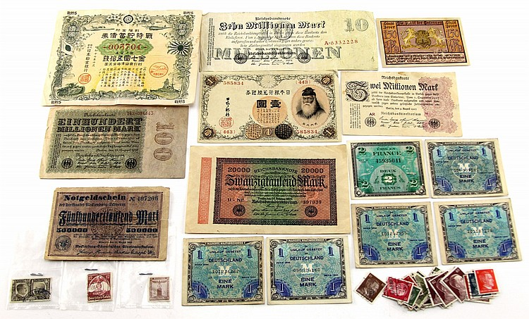WWII CURRENCY STAMPS & MPC's