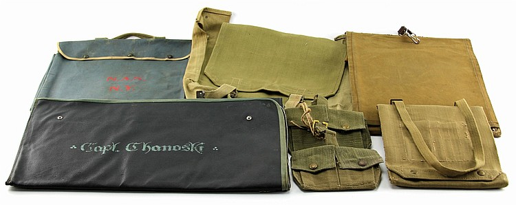 MILITARY MAP CASE LOT OF 5