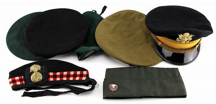 WWII COLD WAR MILITARY CAP COLLECTION