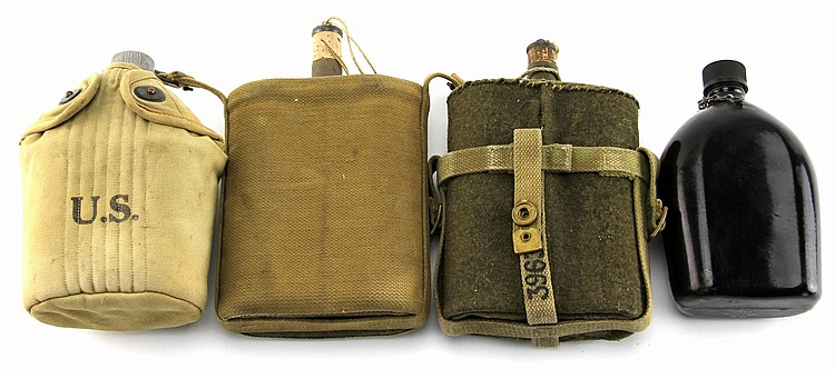 WWI WWII US UK CANTEEN LOT