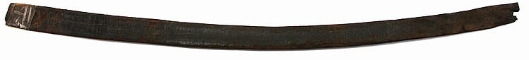 19th CENTURY LEATHER SCABBARD