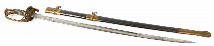 CIVIL WAR M1850 STAFF OFFICER'S SWORD COLLINS & CO