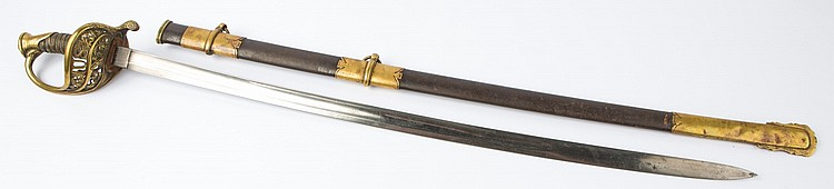 US MODEL 1850 STAFF & FIELD OFFICER'S SWORD