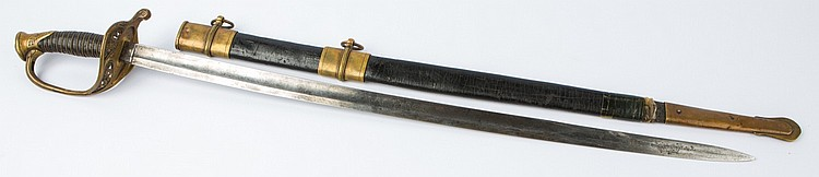 US MODEL 1850 FOOT OFFICER'S SWORD BY AMES