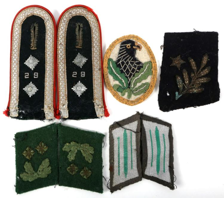 WWII GERMAN SHOULDER BOARDS AND PATCHES