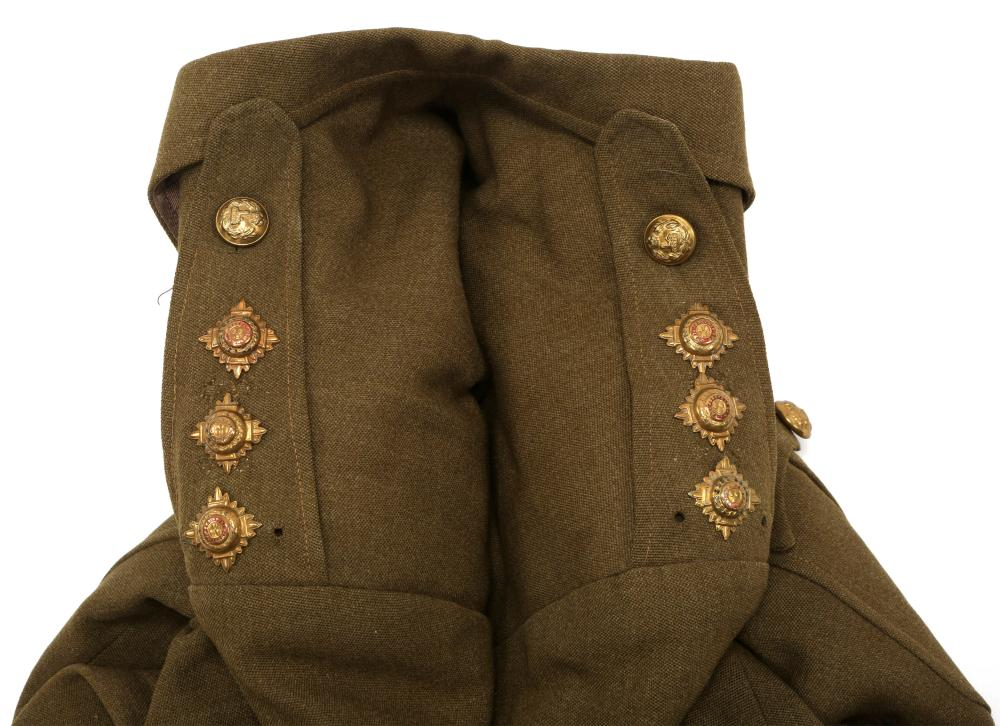 WWII BRITISH ARMY OFFICER SERVICE UNIFORM LOT OF 2
