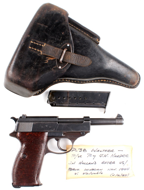 WWII WALTHER P.38 CAPTURED BY GEN JOS H HARPER