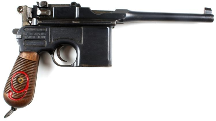 PRUSSIAN M1916 RED 9 C96 BROOMHANDLE PISTOL