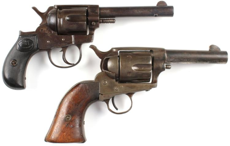 TWO ANTIQUE REVOLVERS FOR PARTS OR REPAIR