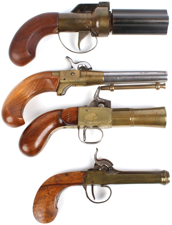 PERCUSSION PISTOL LOT OF 4