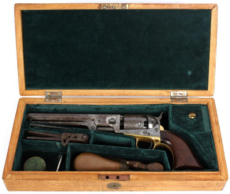 CASED COLT 1851 NAVY REVOLVER 36 CALIBER