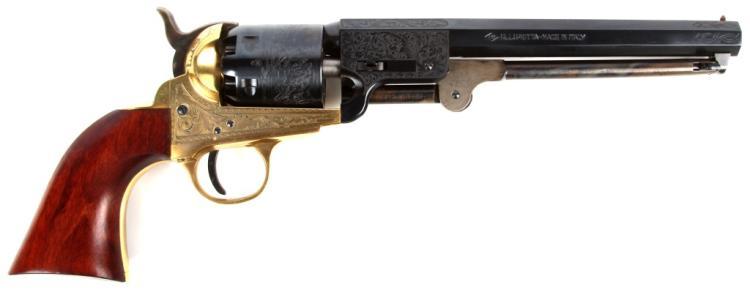 ENGRAVED PIETTA 1851 COLT 36 CAL NAVY REVOLVER