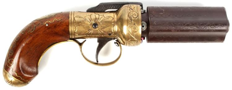 REPRODUCTION 19TH CENTURY PEPPERBOX .36 PISTOL