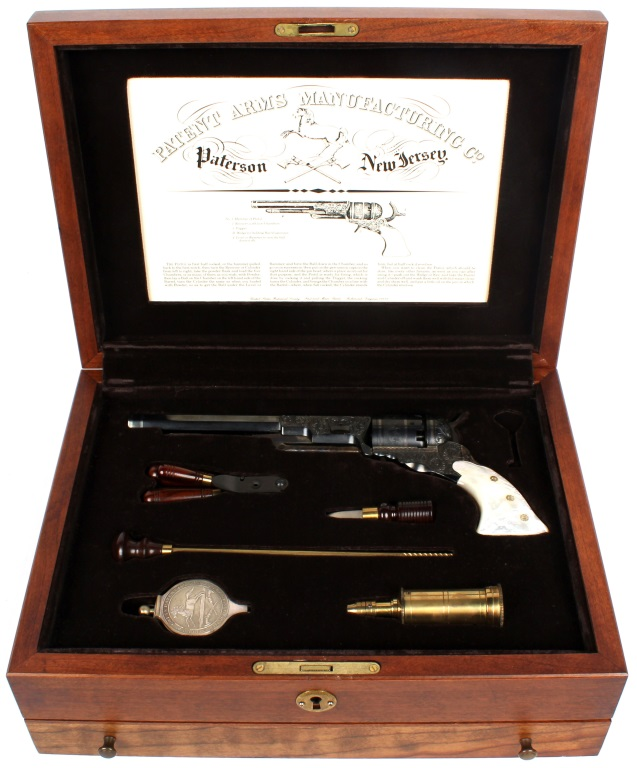 CASED US HISTORICAL SOCIETY COLT PATERSON REVOLVER