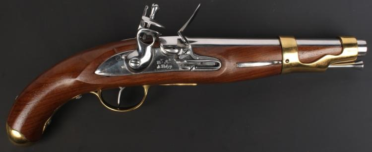 REPRODUCTION FRENCH 1766 FLINTLOCK PISTOL MUTZIG