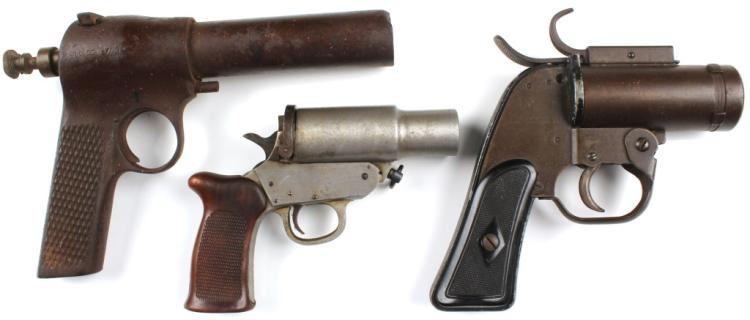 WWII US FLARE PISTOL LOT OF 3