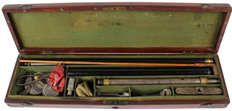 CASED ANTIQUE ENGLISH AIR CANE GUN