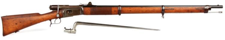 SWISS VETTERLI MODEL 1869 RIFLE AND BAYONET