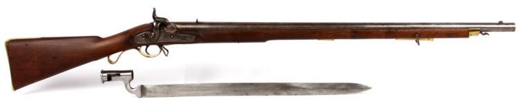 BRITISH LOVELL'S 1842 MUSKET & BAYONET JOHN WIGGAN
