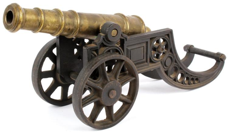 11 INCH BRASS CANNON