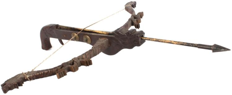 CHINESE CARVED DRAGON DECORATIVE CROSSBOW