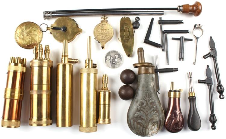 LOT OF BLACK POWDER FIREARM ACCESSORIES