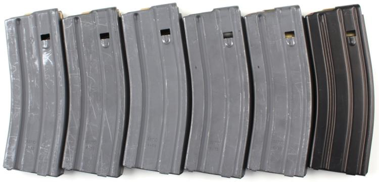 30 ROUND AR MAGAZINE LOT OF 6 SOME LOADED