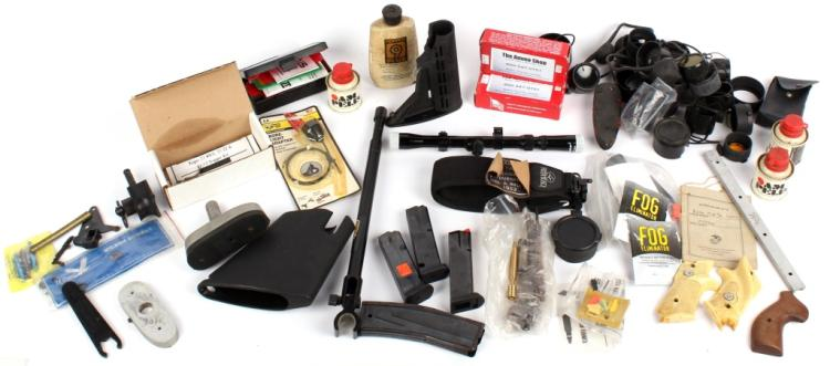 MIXED LOT OF FIREARMS RELATED ITEMS