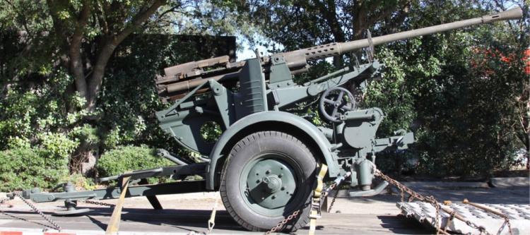 WWII RHEINMETALL MODEL 1939 37mm ANTIAIRCRAFT GUN DEACTIVATED