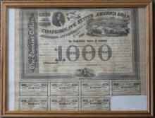 CIVIL WAR CONFEDERATE $1000 BEARER BOND
