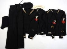US NAVY CRACKERJACK UNIFORM LOT OF 4