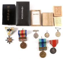 WWII JAPANESE MEDALS AND INSIGNIA LOT