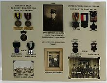 SPANISH AMERICAN WAR ARCHIVE OF SGT D F MCCARTHY