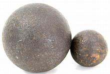 PAIR OF CANNONBALLS