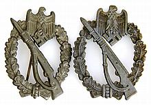 WWII GERMAN ARTILLERY ASSAULT BADGE LOT OF TWO