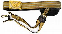 1884 US CAVALRY BELT, BUCKLE, & SWORD HARNESS