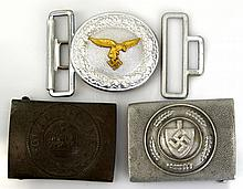 WWI GERMAN BELT BUCKLE LOT OF THREE