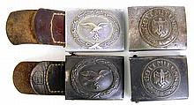 WWII GERMAN BELT BUCKLE LOT OF FOUR