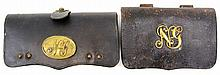 2 CIVIL WAR ERA NATIONAL GUARD CARTRIDGE BOXES