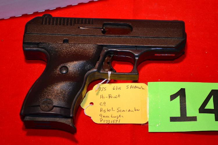 HI POINT MODEL C9 9MM SEMIAUTOMATIC PISTOL NEW IN THE BOX