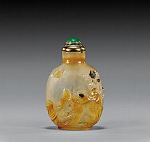 CHALCEDONY AGATE SNUFF BOTTLE