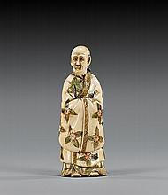 RARE LACQUERED IVORY SNUFF BOTTLE