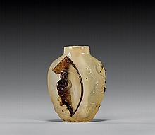 CAMEO & SHADOW AGATE SNUFF BOTTLE