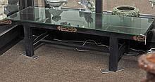 Chinese Black Lacquer Long Low Table